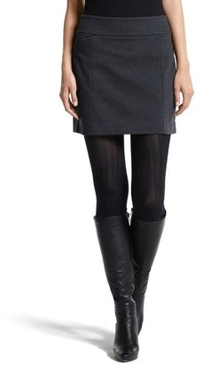 White House Black Market Charcoal Ponte Knit Mini Skirt