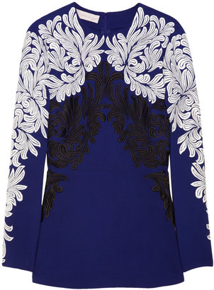 Stella McCartney Mietta embroidered crepe top