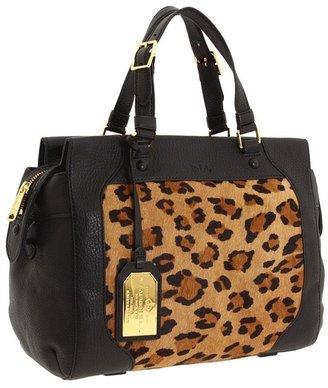 Lauren Ralph Lauren Hartwell Haircalf Satchel (Leopard/Black) - Bags and Luggage