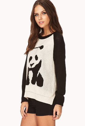 Forever 21 Quirky Panda Sweater