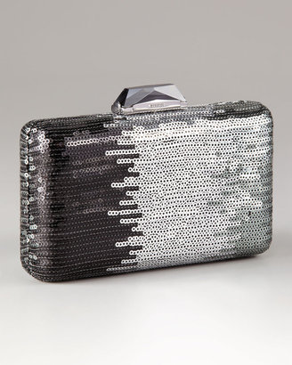 Kotur Espey Ombre Sequin Mini Box Clutch With Drop In Chain