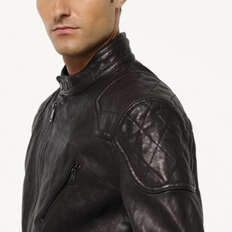 Ralph Lauren Black Label Denim Lambskin Biker Jacket