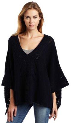Velvet Women's Cashmere Amill Poncho Sweater