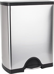 Simplehuman 50L Rectangular Deluxe Step Can - Classic