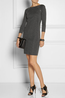 MICHAEL Michael Kors Zip-embellished jersey mini dress