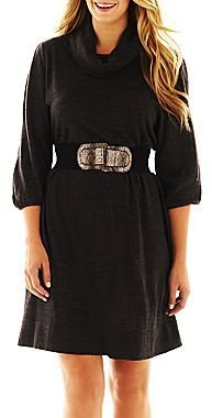 JCPenney Alyx Cowlneck Sweater Dress - Plus