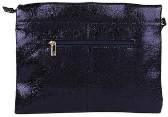 Melie Bianco Oversized Crackle Clutch