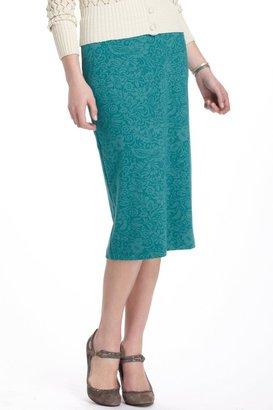 Anthropologie Burnout Lace Pencil Skirt