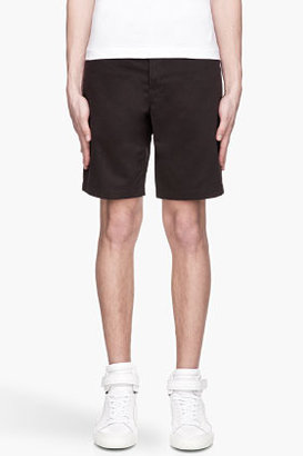 Alexander Wang Black twill leather pocket jean shorts