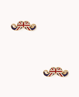 Forever 21 Quirky British Mustache Studs