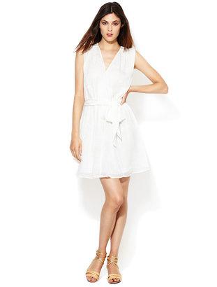Rachel Zoe Aline Silk Jacquard Cross-Over Dress