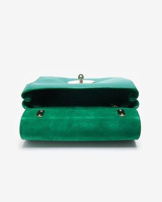 Mulberry Lily Micrograin Calf Shoulder Bag: Emerald
