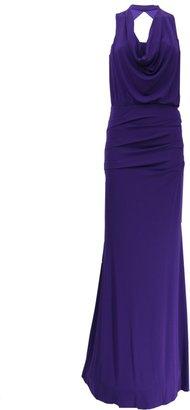 Nicole Miller Matte Jersey Cowl Neck Dress