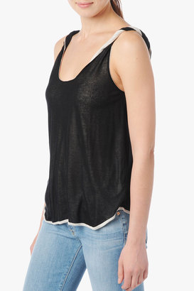 7 For All Mankind Reversible Twist Tank In Black
