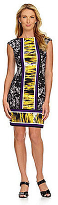 Maggy London Printed Ponte Shift Dress