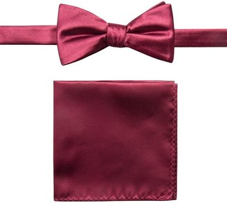 Apt. 9 Men's Solid Pre-Tied Bow Tie & Pocket Square
