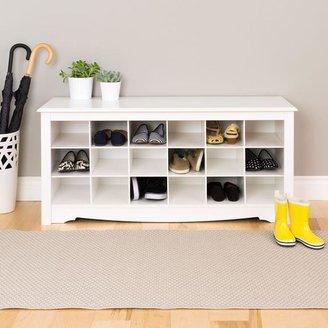 Prepac Monterey Shoe Storage Cubbie Bench