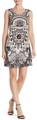 Papillon Mesh Panel Sleeveless Dress