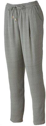 JLO by Jennifer Lopez striped tapered pants