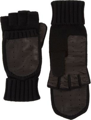 Barneys New York Leather Palm Convertible Gloves