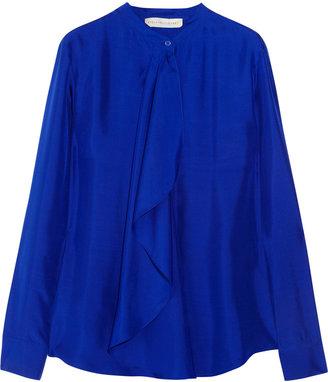 Stella McCartney Jennifer draped silk shirt