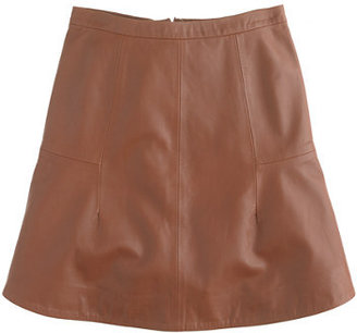 J.Crew Collection fluted skirt in leather