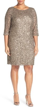 Plus Size Women's Pisarro Nights Draped Back Beaded Dress $198 thestylecure.com