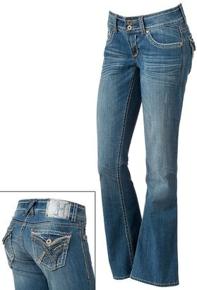 Hydraulic sequins bootcut jeans - juniors