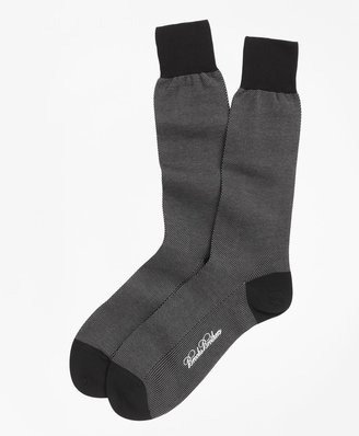 Brooks Brothers Cotton Bird's Eye Crew Socks