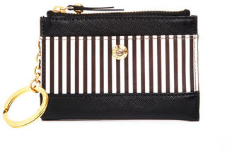 Henri Bendel Centennial Stripe Mini Zip