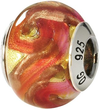 Murano Prerogatives Sterling Yellow/Orange Italian Glass Bead