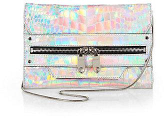 Milly Tatum Textured Hologram Convertible Clutch