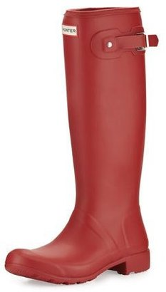 Hunter Boot Original Tour Packable Rain Boot, Military Red $150 thestylecure.com