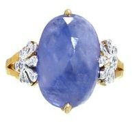 Cathy Waterman Oval Rose Cut Blue Sapphire Daisy Ring