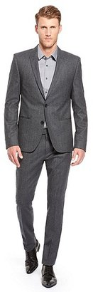 HUGO BOSS Ackson/Hastings Extra Slim Fit, Stretch Virgin Wool Suit - Dark Blue