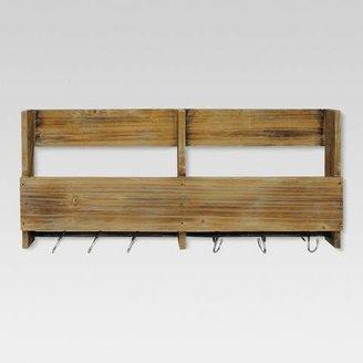 Threshold Wooden Shelf with S Hooks