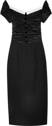L'Wren Scott Ruched wool-blend twill dress