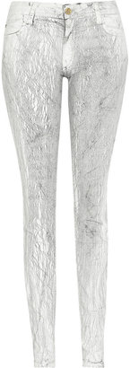 Faith Connexion Printed mid-rise skinny jeans