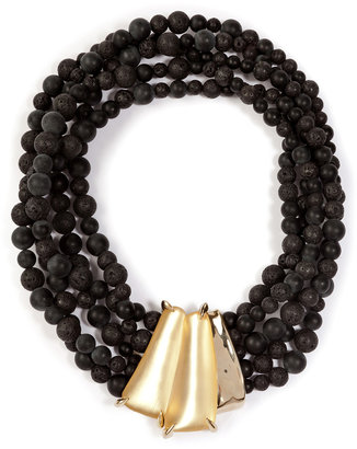 Alexis Bittar Durban Beaded Necklace in Gold