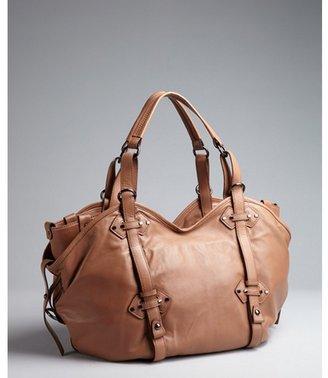 Kooba light brown leather 'Kyle' large tote