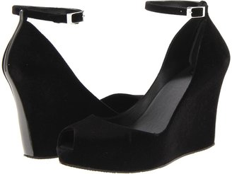 Melissa Shoes - Melissa Patchuli IV (Black Flocked) - Footwear
