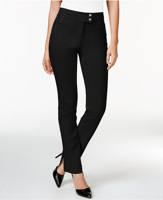 Style & Co Tummy-Control Slim-Leg Pants, Only at Macy's $27.98 thestylecure.com