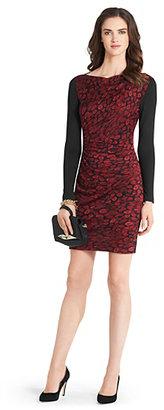Diane von Furstenberg Kirby Long Sleeve Silk Jersey Dress