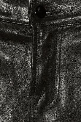 J Brand L1340 Julia cropped mid-rise leather pants