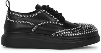 Alexander McQueen Larry Black Leather Derby Shoes