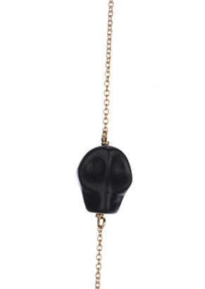 Soixante Neuf Sideways Skull Necklace