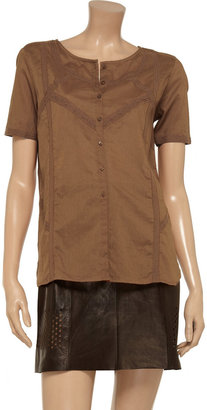 Vanessa Bruno Lace-trimmed cotton shirt