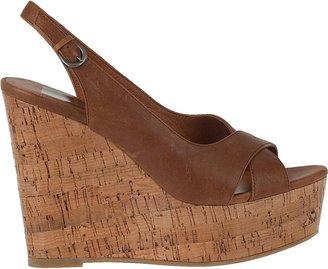 Dolce Vita Jill Wedge Sandal Natural Tan Leather