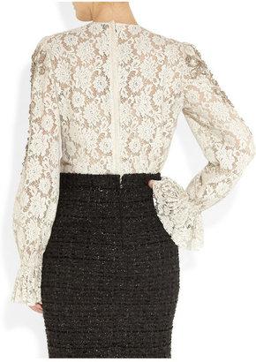 Dolce & Gabbana Embellished lace top