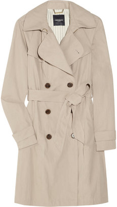 Gryphon Pleated cotton-blend trench coat